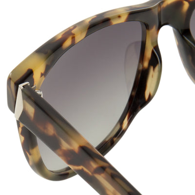 Orlebar Brown Sunglasses D-Frame Camo Tortoise Shell with Grey Graduated Lenses OB32C2SUN - Watches & Crystals
