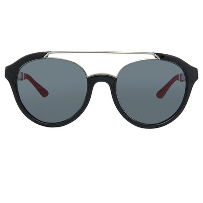 Orlebar Brown Sunglasses Oval Black with Grey Lenses Category 3 OB42C7SUN - Watches & Crystals