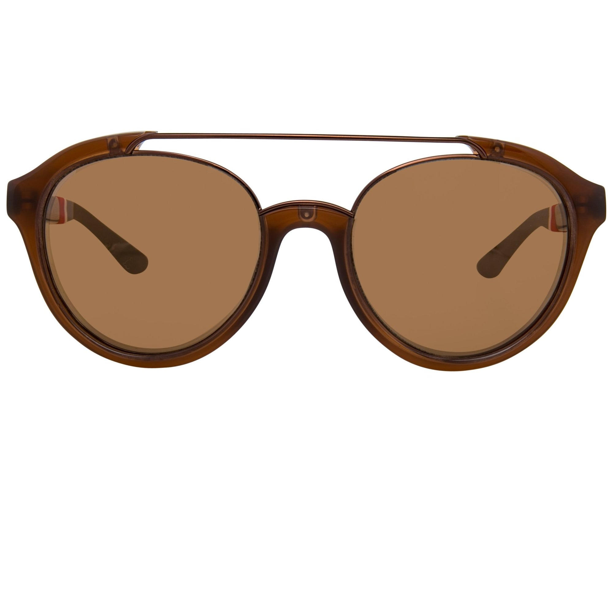 Orlebar Brown Sunglasses Oval Clay & Bronze with Metallic Brown Lenses OB42C6SUN - Watches & Crystals