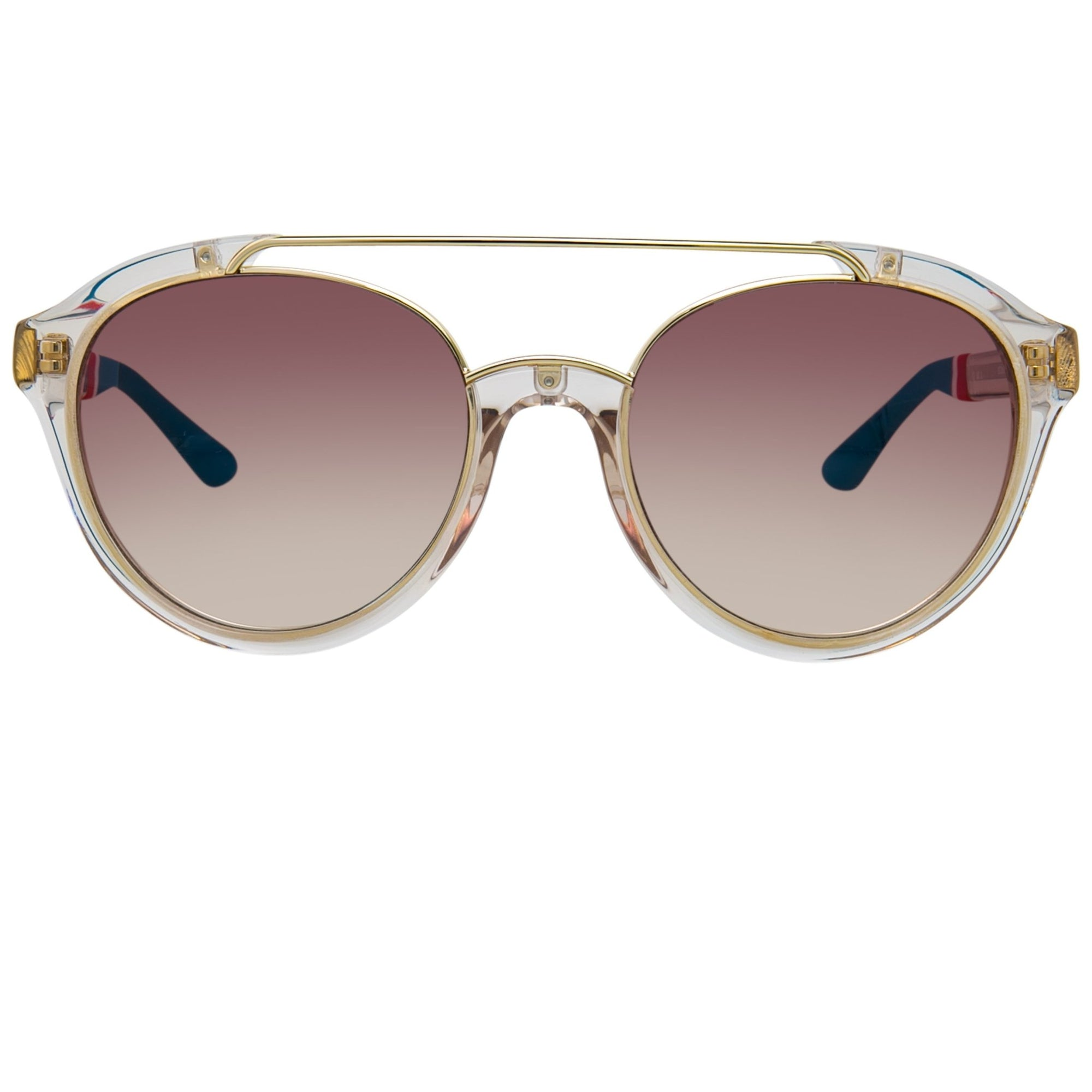 Orlebar Brown Sunglasses Oval Gold & Clear with Brown Graduated Lenses OB42C4SUN - Watches & Crystals