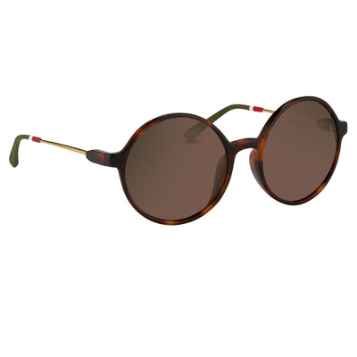 Orlebar Brown Sunglasses Round Tortoise Shell with Brown Lenses OB27C2SUN - Watches & Crystals