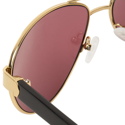 Orlebar Brown Sunglasses Yellow Gold with Purple Lenses Category 3 OB38C2SUN - Watches & Crystals