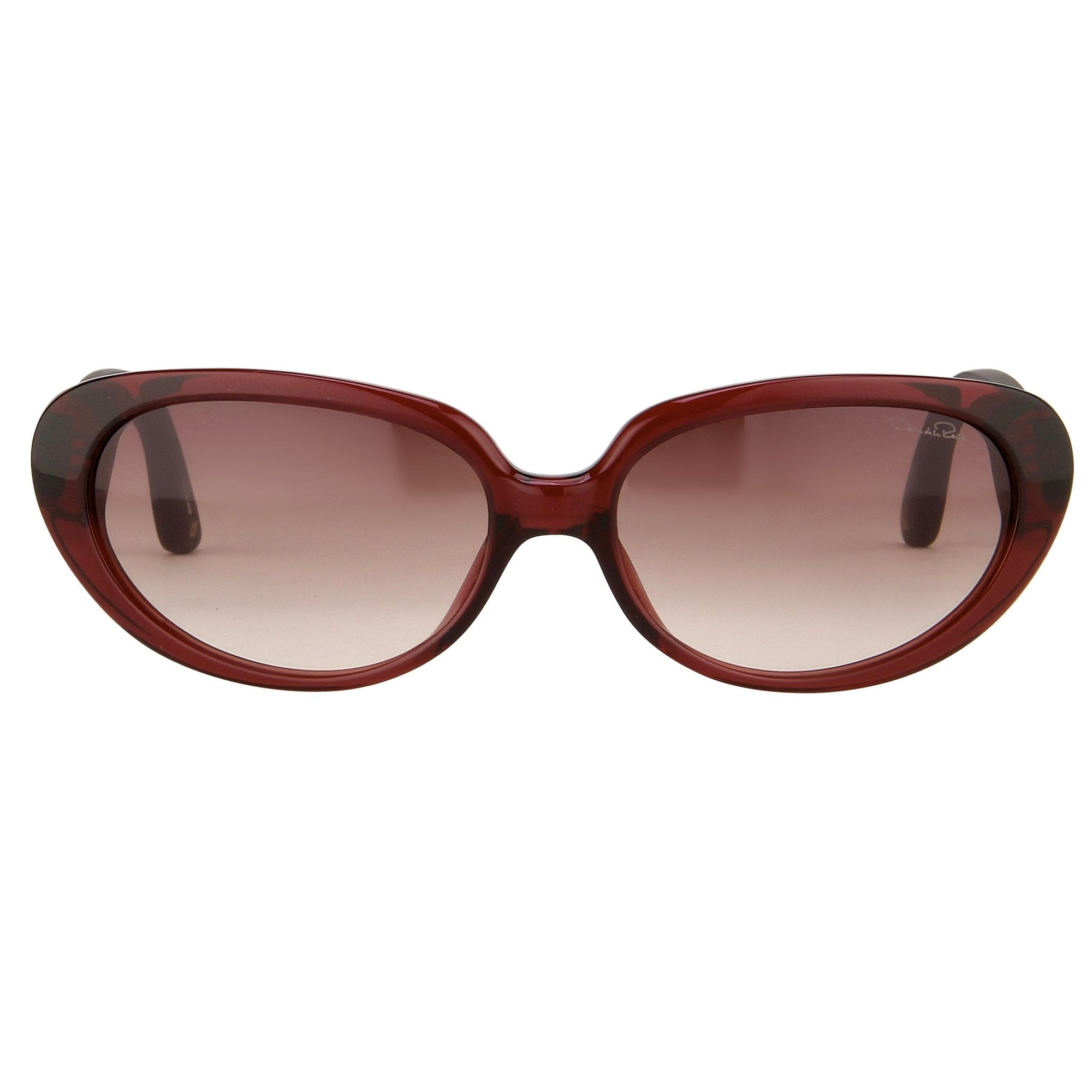 Oscar De La Renta Eyeglasses Cat Eye Ruby and Grey Lenses - ODLR43C9SUN - Watches & Crystals