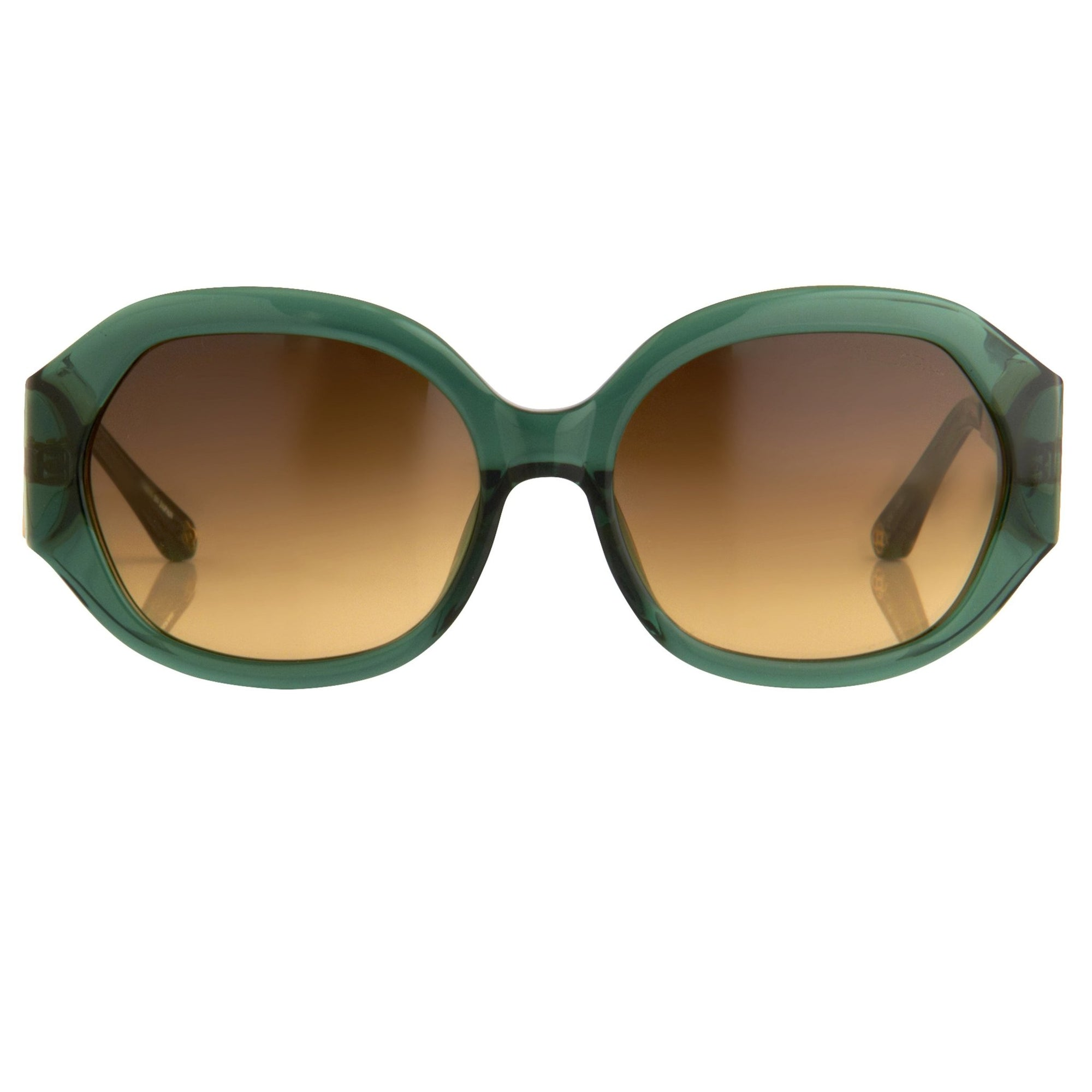 Oscar De La Renta Sunglasses Jackie O Forest Green and Amber Lenses - ODLR34C4SUN - Watches & Crystals