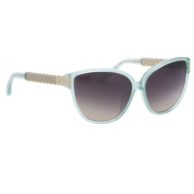 Oscar De La Renta Sunglasses Oval Mint and Grey Graduated Lenses - ODLR52C3SUN - Watches & Crystals