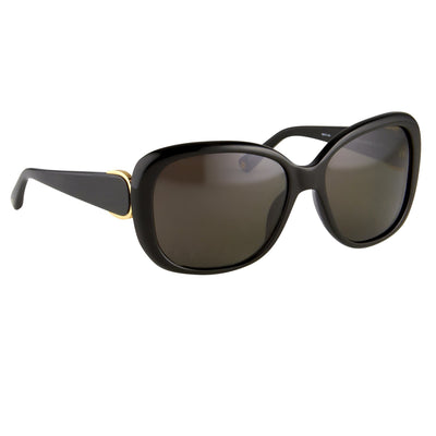 Oscar De La Renta Sunglasses Oversized Frame Black and Grey Lenses - ODLR45C1SUN - Watches & Crystals