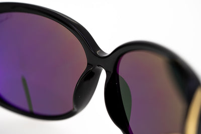 Oscar De La Renta Sunglasses Oversized Frame Black and Grey Lenses - ODLR55C1SUN - Watches & Crystals