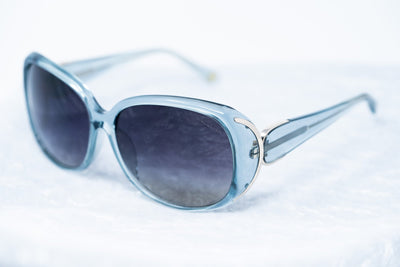 Oscar De La Renta Sunglasses Oversized Frame Blue Light Gold and Dark Grey Lenses Category 3 - ODLR55C5SUN - Watches & Crystals