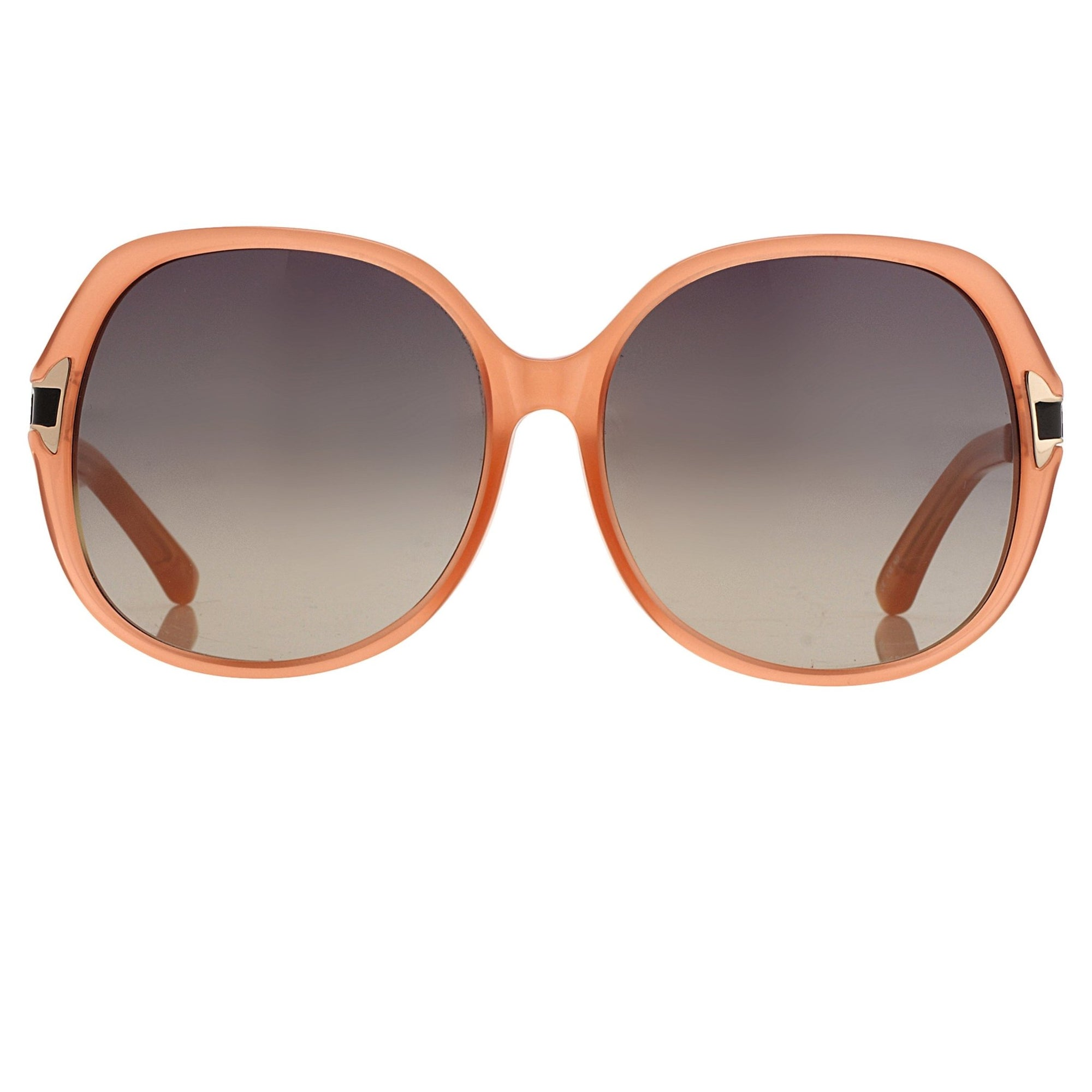 Oscar De La Renta Sunglasses Oversized Frame Orange Enamel Arms and Grey Lenses - ODLR22C5SUN - Watches & Crystals