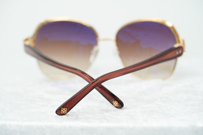 Oscar De La Renta Sunglasses Oversized Frame Russian Gold Red Enamel With Grey Lenses - ODLR50C4SUN - Watches & Crystals