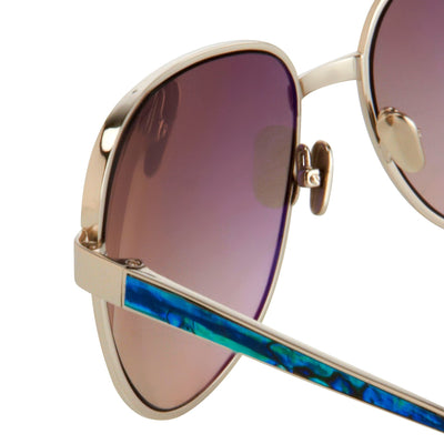 Oscar De La Renta Sunglasses Oversized Frame Silver and Grey Lenses - ODLR32C3SUN - Watches & Crystals