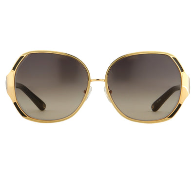 Oscar De La Renta Sunglasses Oversized Frame Yellow Gold and Grey Lenses - ODLR49C1SUN - Watches & Crystals