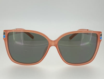 Oscar De La Renta Sunglasses Oversized Orange Enamel Arms and Green Lenses Category 3 - ODLR21C5SUN - Watches & Crystals
