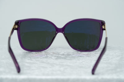 Oscar De La Renta Sunglasses Oversized Purple Enamel Arms and Green Lenses Category 3 - ODLR21C2SUN - Watches & Crystals