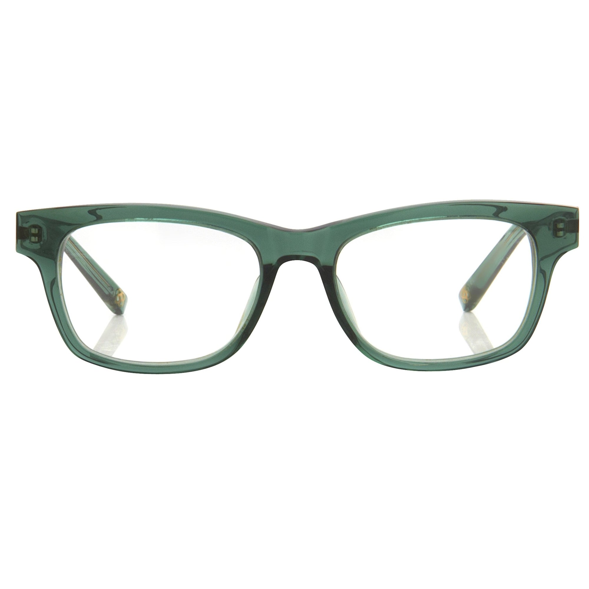Oscar De La Renta Unisex Eyeglasses Rectangle Forest Green with Clear Lenses - ODLR41C3OPT - Watches & Crystals