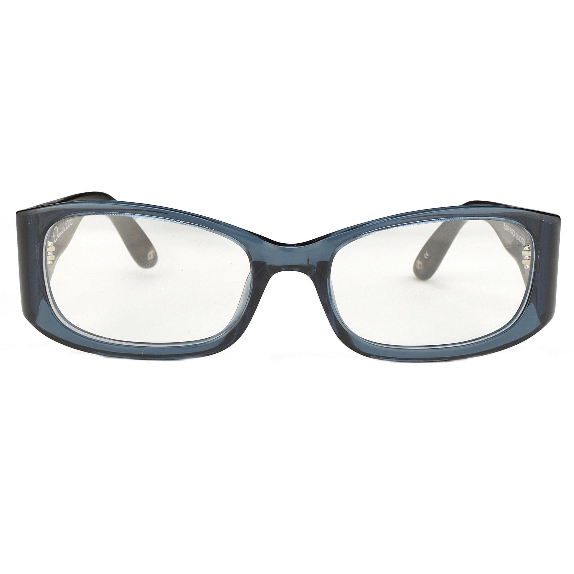 Oscar De La Renta Unisex Eyeglasses Sandalwood D-Frame Blue and Clear Lenses - ODLR42C4OPT - Watches & Crystals
