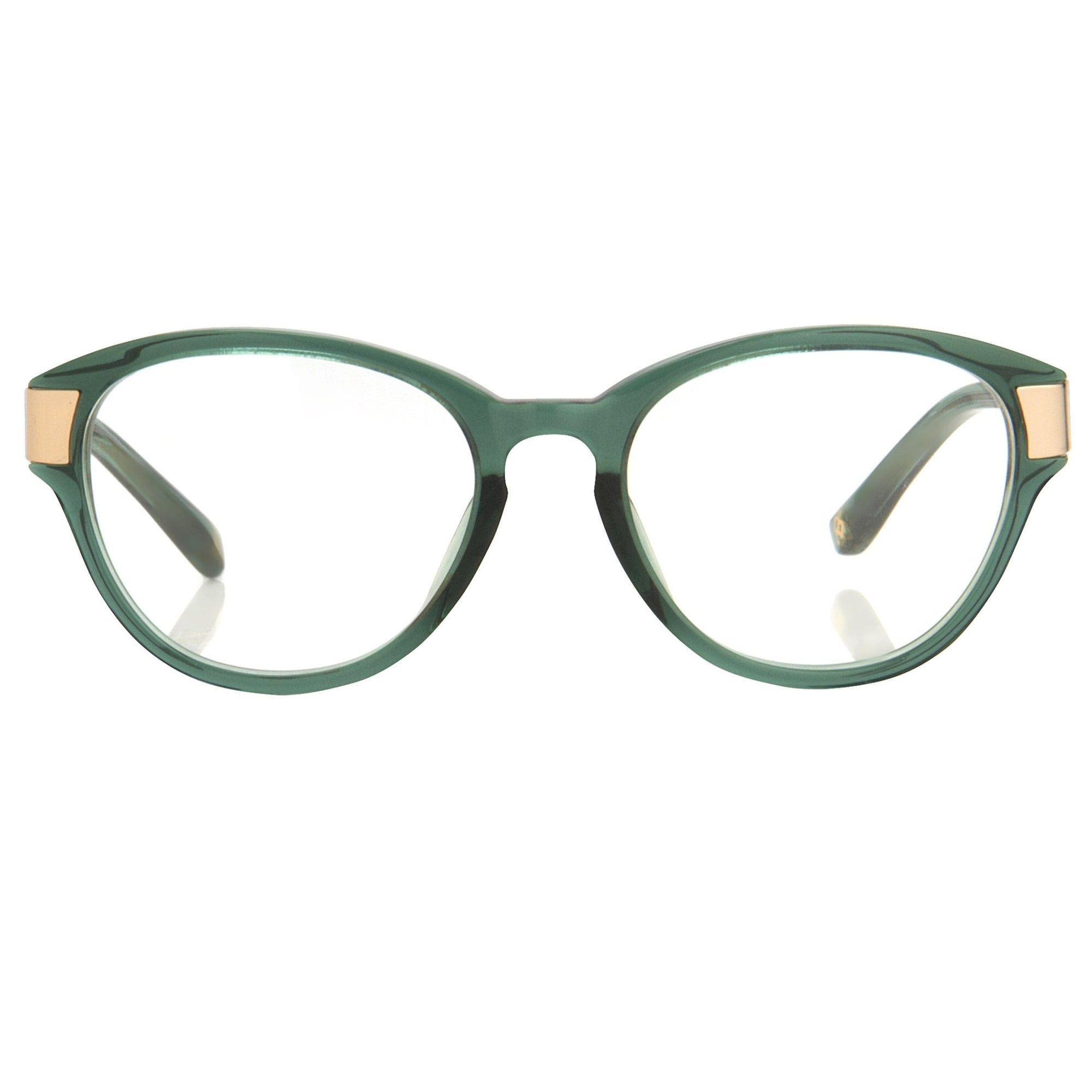 Oscar De La Renta Women Eyeglasses Oval Green White Mother of Pearl and Clear Lenses - ODLR37C4OPT - Watches & Crystals