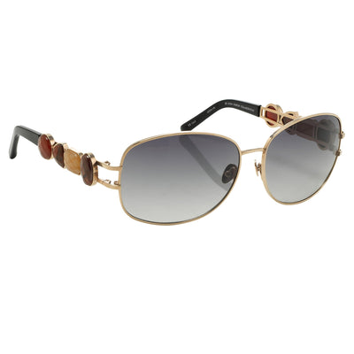 Oscar De La Renta Women Sunglasses Gemstones Oval Rose Gold and Grey Lenses - ODLR8C3SUN - Watches & Crystals