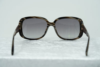 Oscar De La Renta Women Sunglasses Gemstones Oversized Frame Horn Bronze With Grey Graduated Lens ODLR64C2SUN - Watches & Crystals