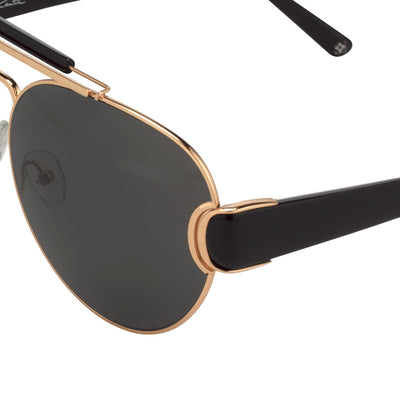 Oscar De La Renta Women Sunglasses Gold Black with Grey Lenses - ODLR53C1SUN - Watches & Crystals