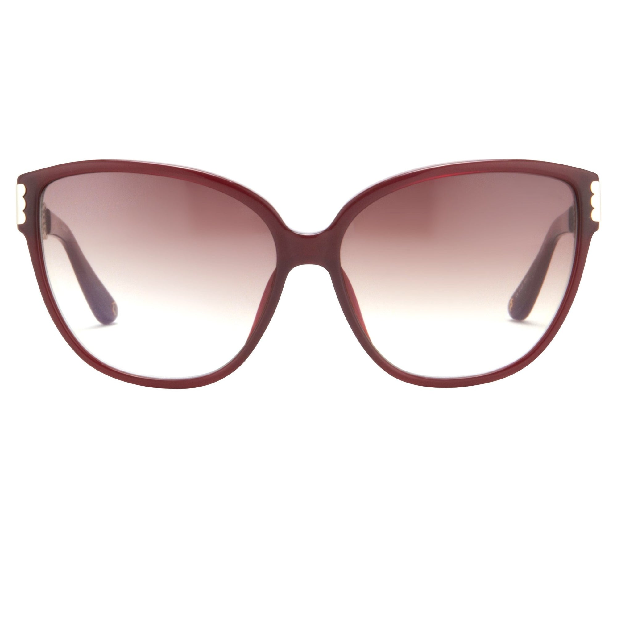 Oscar De La Renta Women Sunglasses Oval Deep Red with Brown Graduated Lenses - ODLR52C4SUN - Watches & Crystals