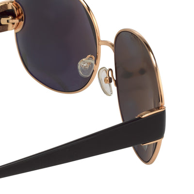 Oscar De La Renta Women Sunglasses Oversized Frame Gold with Grey Lenses Category 3 - ODLR54C1SUN - Watches & Crystals