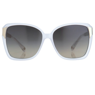 Oscar De La Renta Women Sunglasses Oversized Frame Ivory with Grey Lenses - ODLR27C3SUN - Watches & Crystals