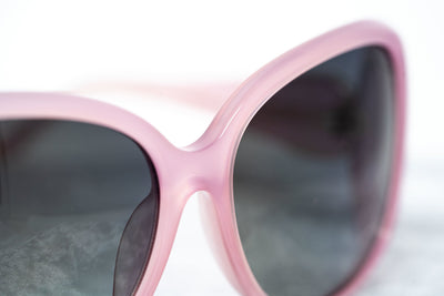 Oscar De La Renta Women Sunglasses Oversized Frame Pink Light Gold and Dark Grey Lenses - ODLR55C6SUN - Watches & Crystals