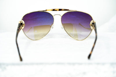 Oscar De La Renta Women Sunglasses Russian Gold Tortoise Shell with Amber Lenses - ODLR53C2SUN - Watches & Crystals