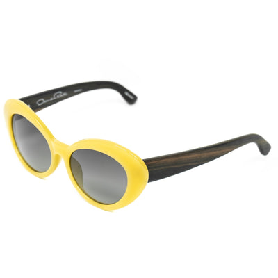 Oscar De La Renta Women Sunglasses Sandalwood Oval Yellow and Grey Lenses - ODLR26C4SUN - Watches & Crystals