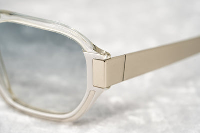 Peter Pilotto Unisex Sunglasses Oversized Grey Transparent Titanium With Graduated Blue Lenses PP2C3SUN - Watches & Crystals
