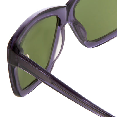 Peter Pilotto Women Sunglasses Rectangular Night Sky With Green Lenses PP3C3SUN - Watches & Crystals