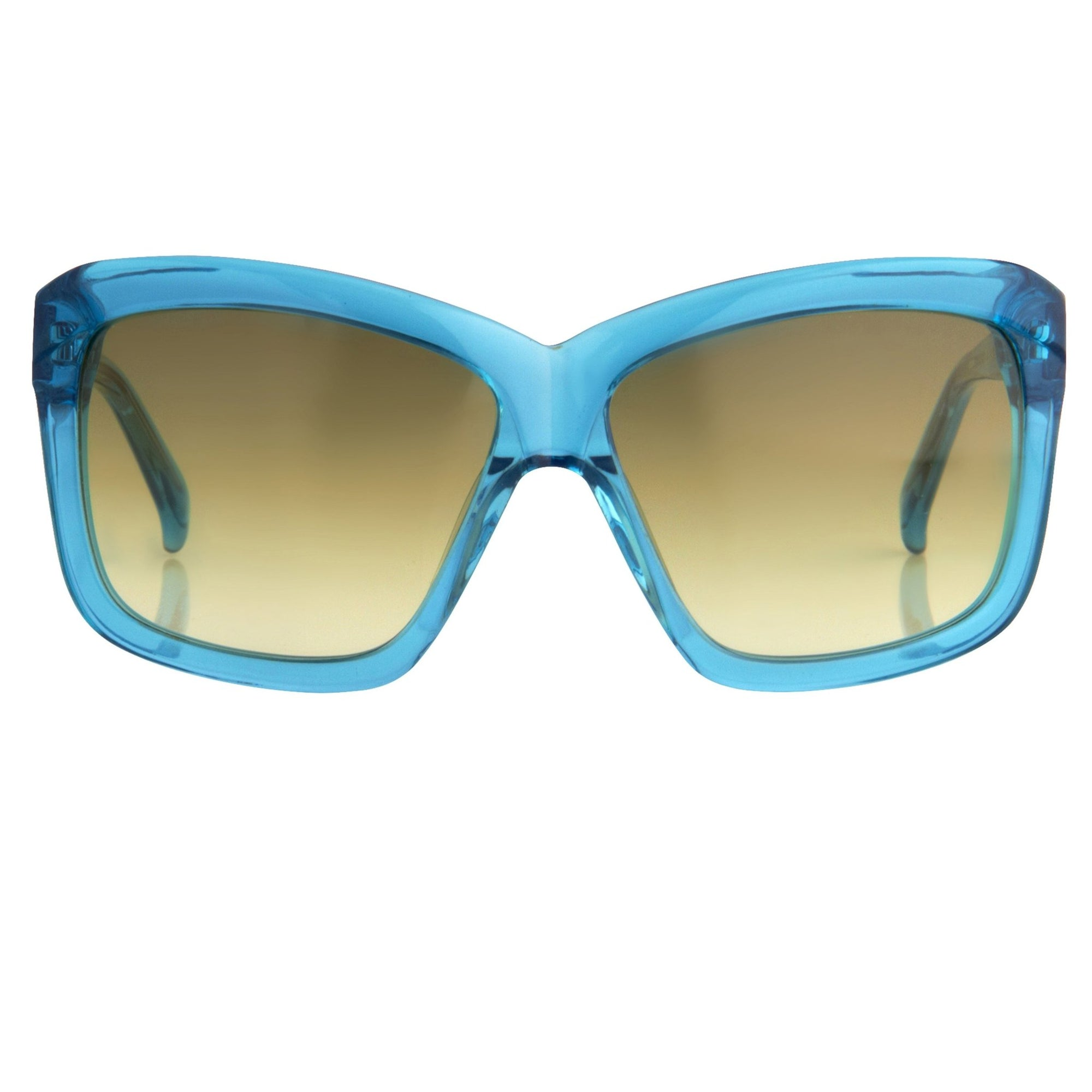 Peter Pilotto Women Sunglasses Rectangular Turquoise With Graduated Brown Lenses PP3C6SUN - Watches & Crystals
