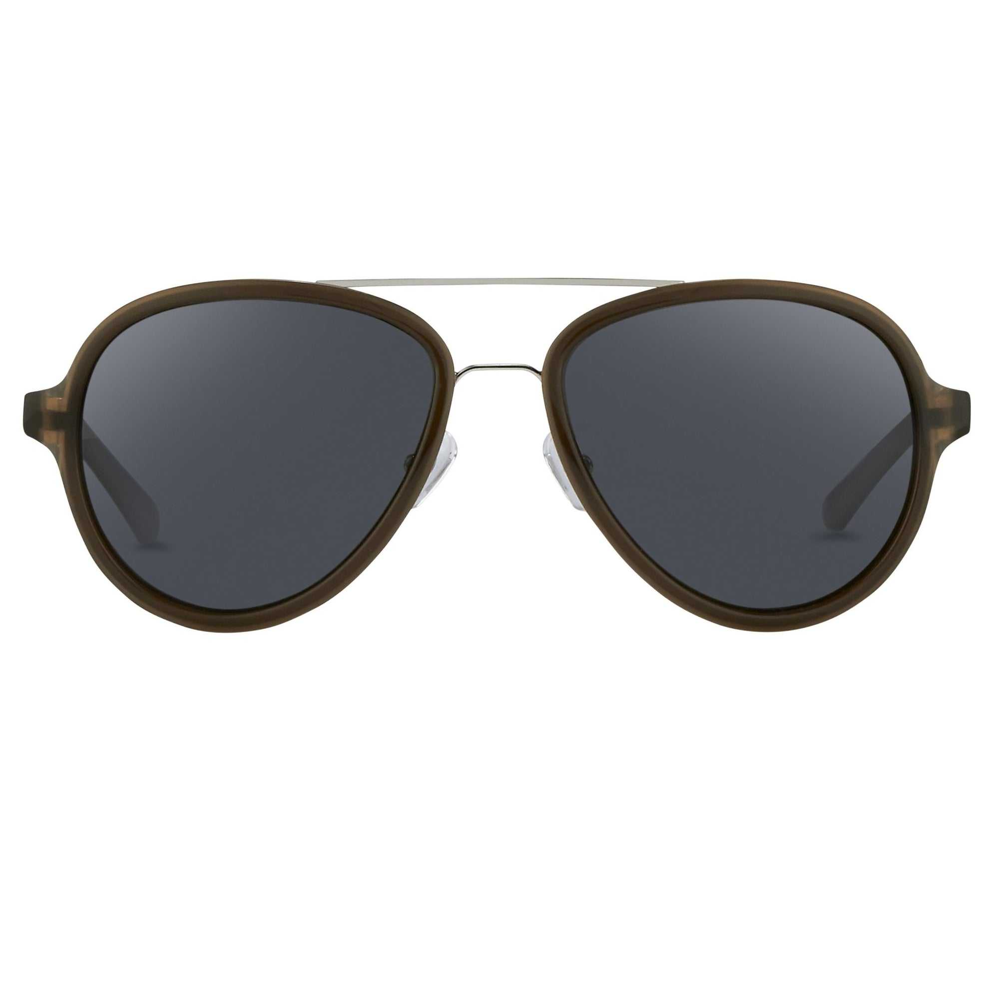 Phillip Lim Sunglasses Brown Silver and Fog Green Lenses Category 3 - PL16C32SUN - Watches & Crystals