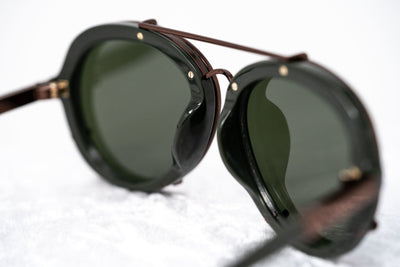 Phillip Lim Sunglasses Dark Green and Bronze Aviator with Green Mirror Lenses Category 3 - PL170C5SUN - Watches & Crystals