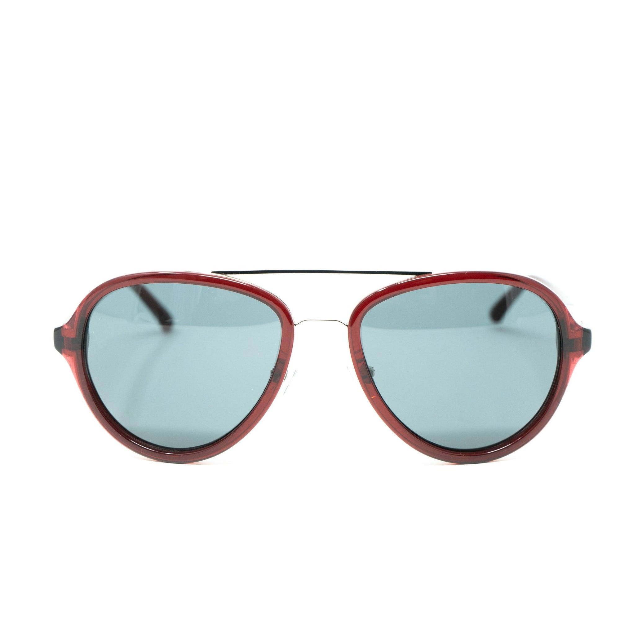 Phillip Lim Sunglasses Merlot Silver and Green Lenses Category 3 - PL16C31SUN - Watches & Crystals