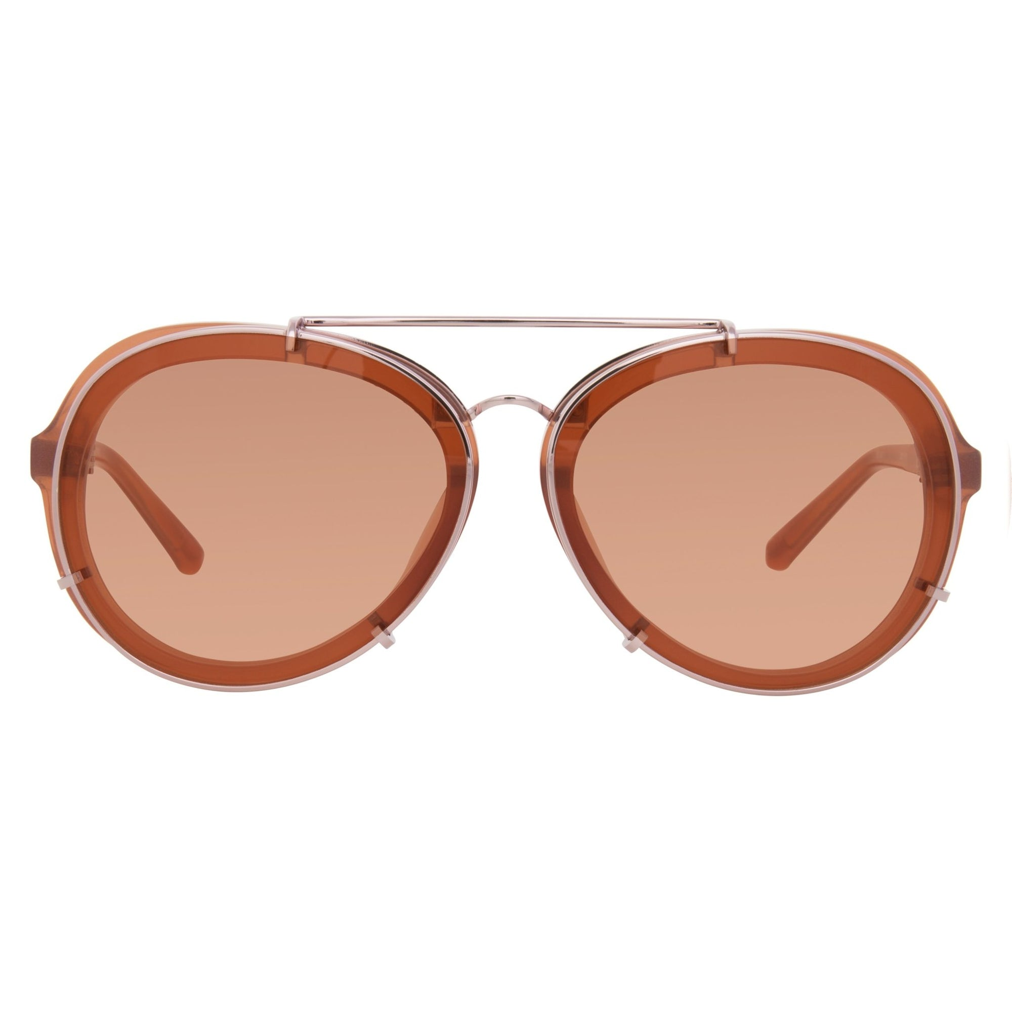 Phillip Lim Sunglasses Rose and Rose Gold Aviator with Rose Lenses Category 1 - PL170C3SUN - Watches & Crystals