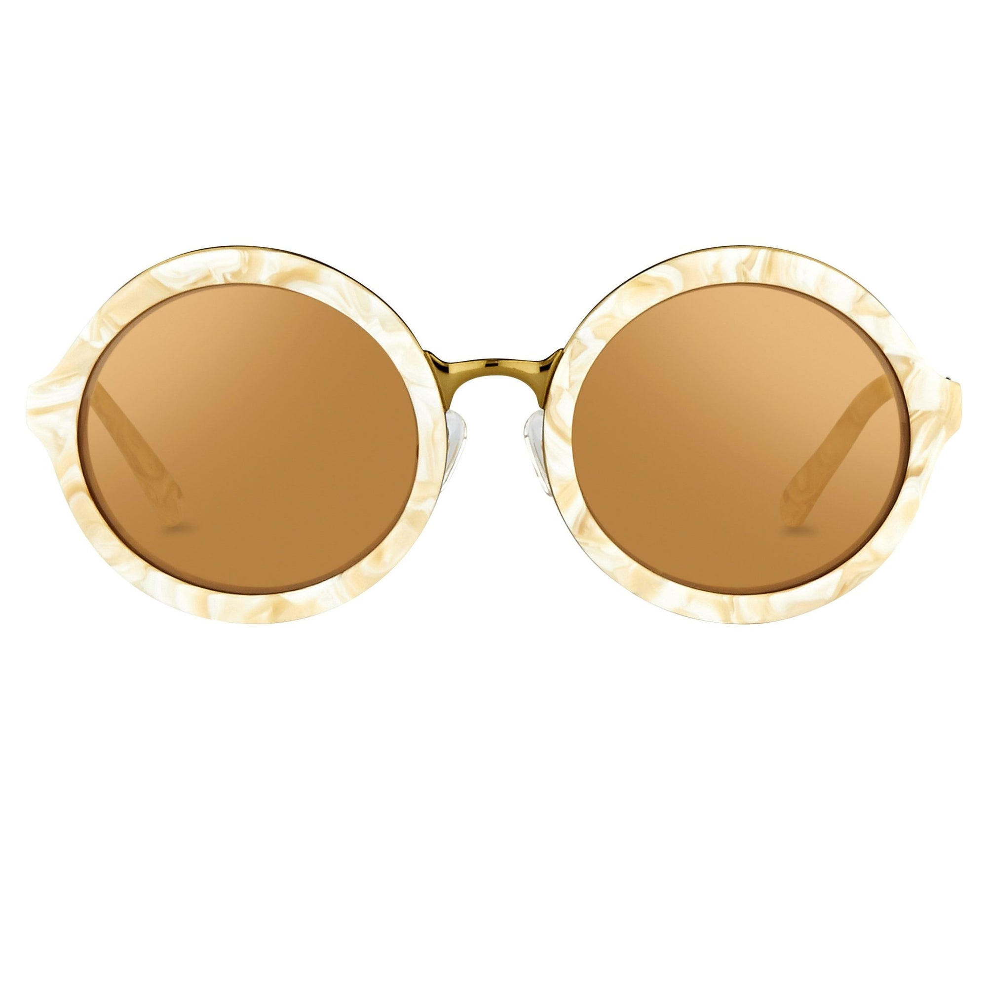 Phillip Lim Sunglasses Round Horn and Bronze Nickel with Bronze Mirror Lenses Category 3 - PL11C30SUN - Watches & Crystals