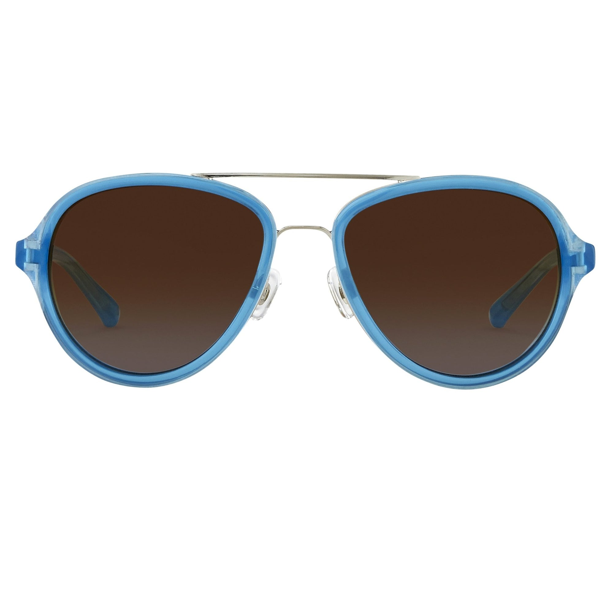 Phillip Lim Sunglasses Turquoise Brushed Silver and Brown Lenses Category 3 - PL16C27SUN - Watches & Crystals