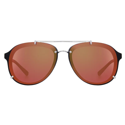 Phillip Lim Sunglasses Unisex Brushed Black and Nickel Aviator with Red Mirror Lenses Category 2 - PL162C6SUN - Watches & Crystals