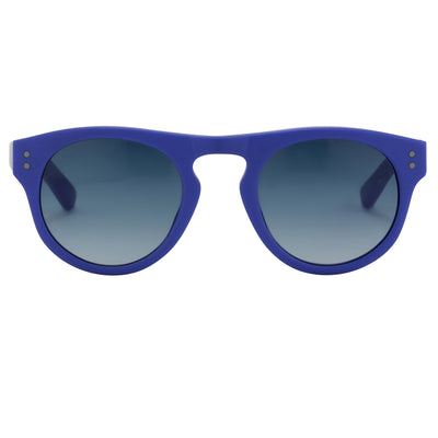 Phillip Lim Sunglasses Unisex D-Frame Matt Denim and Silver with Blue Lenses Category 2 - PL10C6SUN - Watches & Crystals
