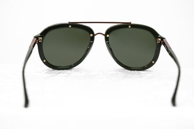 Phillip Lim Sunglasses Unisex Dark Green and Bronze Aviator with Green Mirror Lenses Category 3 - PL162C5SUN - Watches & Crystals
