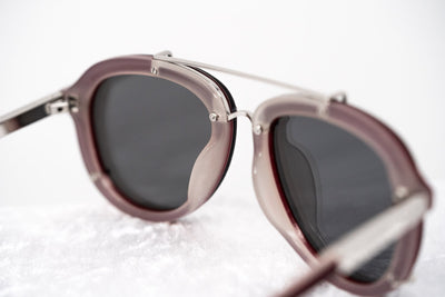 Phillip Lim Sunglasses Unisex Maroon/Light Grey and Silver Aviator with Silver Mirror Lenses Category 3 - PL162C4SUN - Watches & Crystals