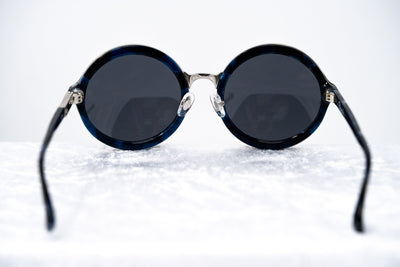 Phillip Lim Sunglasses Unisex Round Black Silver Pearl Frame with CAT3 Dark Grey Lenses PL11C31SUN - Watches & Crystals