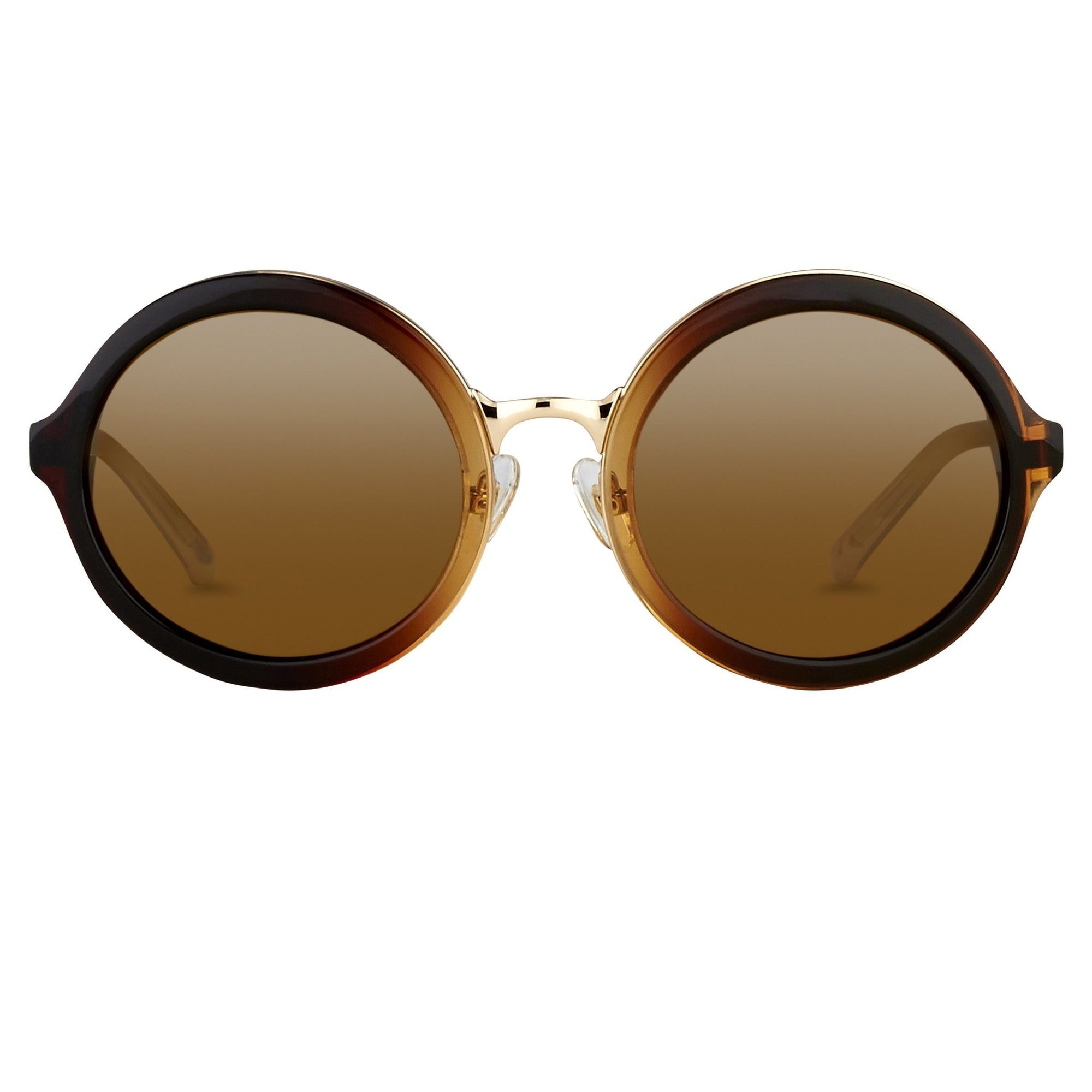 Phillip Lim Sunglasses Unisex Round Brown Mocha Gradient Frame with CAT2 Medium Brown Lenses PL11C29SUN - Watches & Crystals