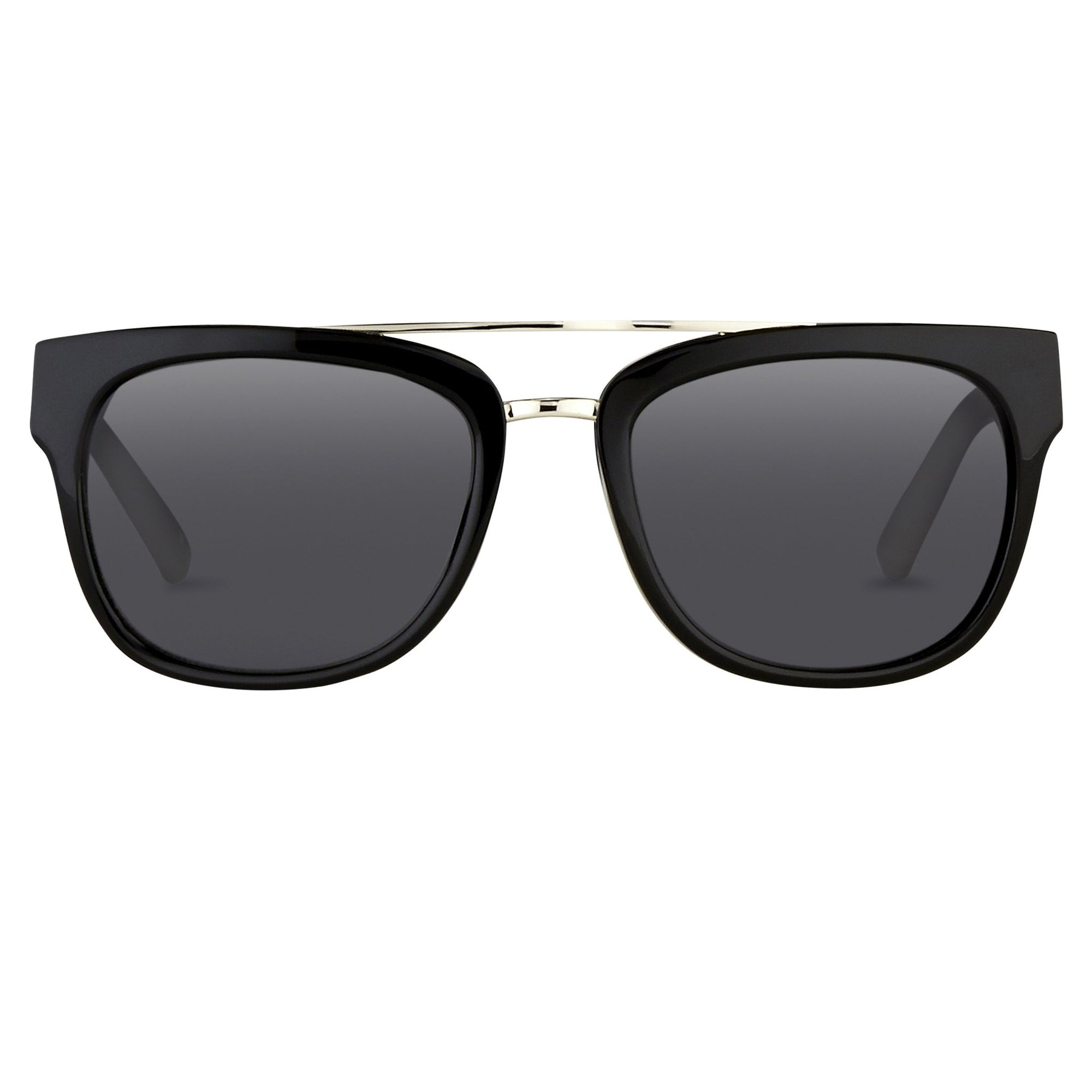 Phillip Lim Sunglasses with Rectangular Black Silver and Fog Green Lenses Category 3 - PL144C1SUN - Watches & Crystals