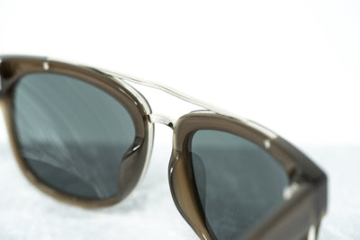 Phillip Lim Sunglasses with Rectangular Brown Silver and Fog Green Lenses Category 3 - PL144C5SUN - Watches & Crystals