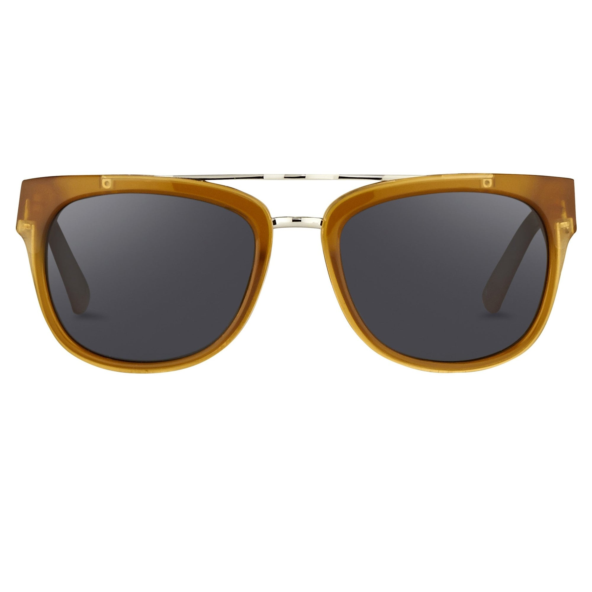 Phillip Lim Sunglasses with Rectangular Honey Silver and Fog Green Lenses Category 3 - PL144C3SUN - Watches & Crystals