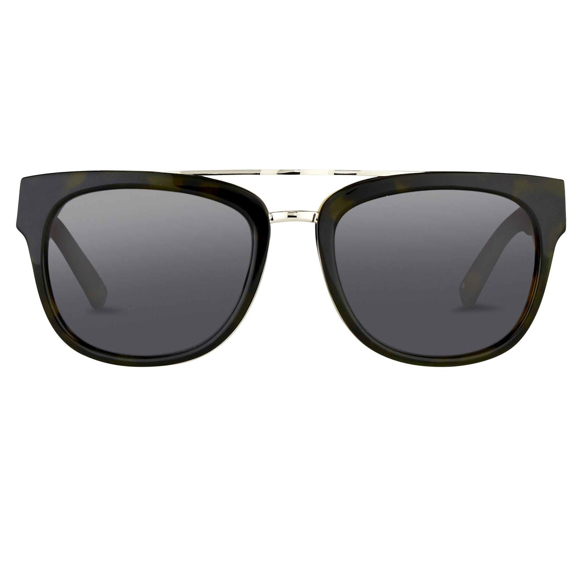 Phillip Lim Sunglasses with Rectangular Tortoiseshell Silver and Fog Green Lenses Category 3 - PL144C6SUN - Watches & Crystals