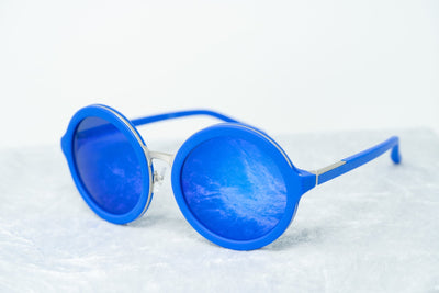 Phillip Lim Sunglasses with Round Blue and Electric Blue Lenses Category 3 - PL11C17SUN - Watches & Crystals